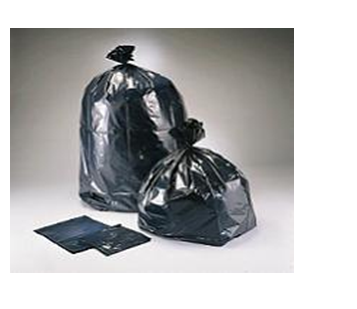 58 Gallon Plastic Black Garbage Bag * Raw Material * XHD 100 ct