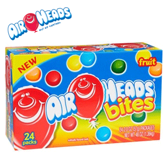 Airheads Bites Fruit Flavor 24 ct