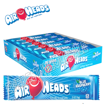 Airheads Singles 0.55 oz 36 ct * Blue Raspberry *