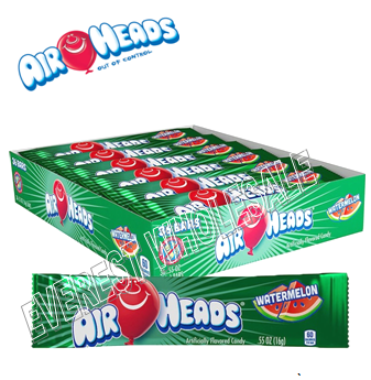 Airheads Singles 0.55 oz 36 ct * Watermelon *