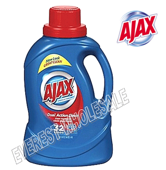 Ajax Liquid Laundry Detergent 50 fl oz * Dual Action * 6 pcs