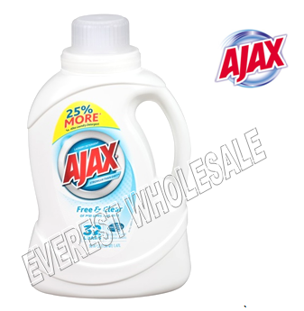 Ajax Liquid Laundry Detergent 50 fl oz * Free & Clear * 6 pcs