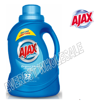 Ajax Liquid Laundry Detergent 50 fl oz * Original Clean * 6 pcs