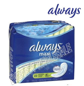 Always Maxi 22 Count * Superlong * 12 pcs