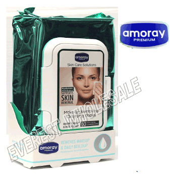 Amoray Makeup Removing Cleansing Wipes 60 ct pack * 6 packs