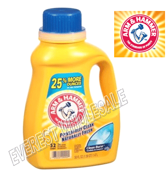 Arm & Hammer Liquid Laundry Detergent * Clean Breeze 45 fl oz * 8 pcs