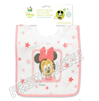 Baby Bib Pull Over Waterproof * Mickey * 6 Pcs