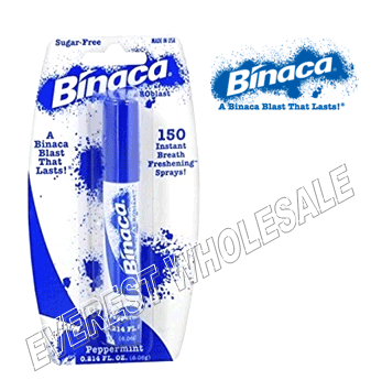 Binaca Mouth Spray 0.21 fl oz * Peppermint * 12 pcs