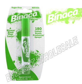 Binaca Mouth Spray 0.21 fl oz * Spearmint * 12 pcs