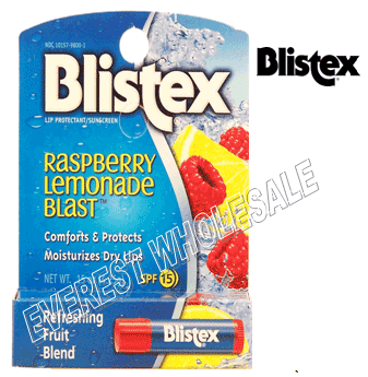 Blistex Medicated Lip Balm * Raspberry Lemonade Blast * 24 ct