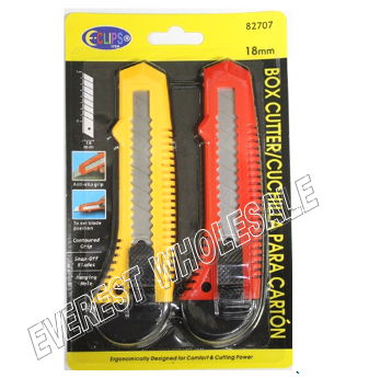 Retractable Utility Knife 2 pk * 6 pks
