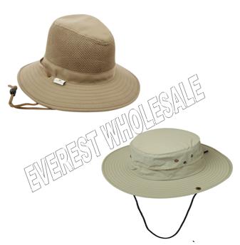 Cotton Safari Hats * Assorted Colors * 6 pcs