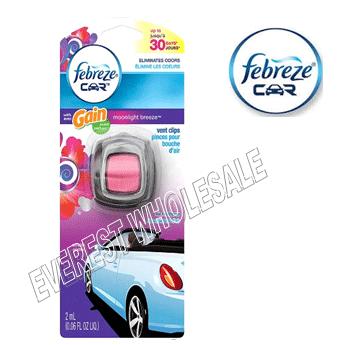 Febreze Car Vent Clip With Gain * Moonlight Breeze * 2 ml / 4 pcs
