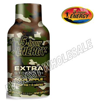 Five Hour Energy Drink * Extra Strength Sour Apple * 12 pcs