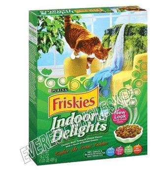 Friskies Dry Cat Food 16.2 oz * Indoor Delights * 12 pcs