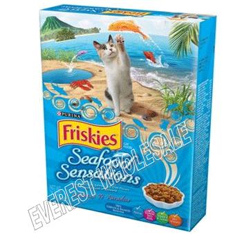 Friskies Dry Cat Food 16.2 oz * Seafood Sensations * 12 pcs