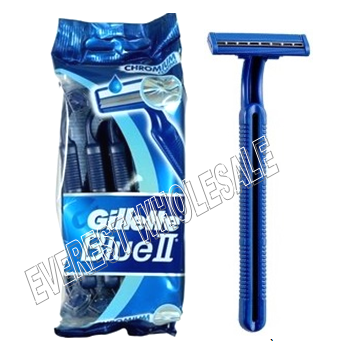 Gillette Blue II * 5 ct Razors * 12 pcs