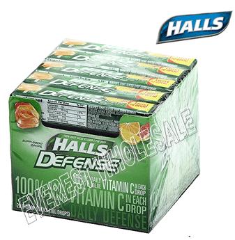 Halls Candy Defense * Assorted Citrus * 20 ct / pack