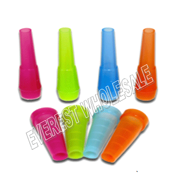 Plastic Hookah Tips Round 50 ct * Assorted Colors