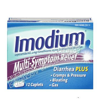 Imodium A-D Multisymptom Relief 12 ct / box * 6 pcs