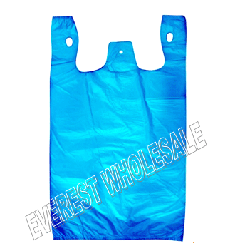 1/6 Blue Plastic Heavy Duty Shopping Bag 50 Micron 140 ct
