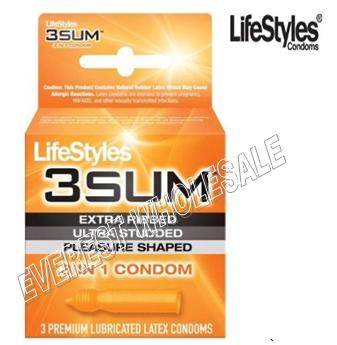 Life Styles Condom 3 in Pack * 3 SUM * 6 pks