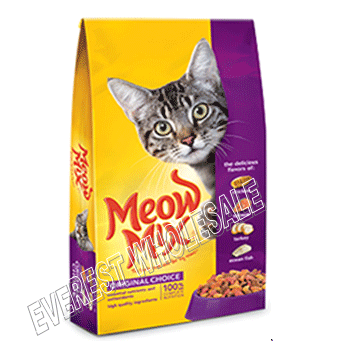Meow Dry Cat Food 18 oz * Original * 6 pcs