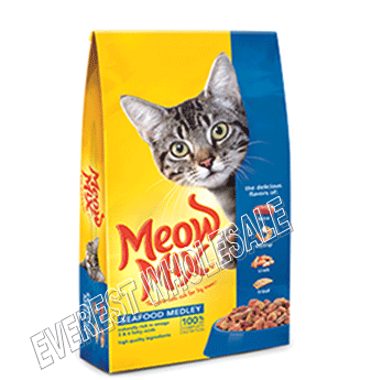 Meow Dry Cat Food 18 oz * Seafood Medley * 6 pcs