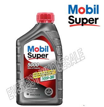 Mobil Super 5000 Motor Oil 1 Qt * 10W-30 * 6 pcs