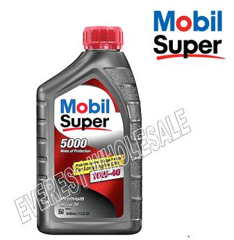 Mobil Super 5000 Motor Oil 1 Qt * 10W-40 * 6 pcs