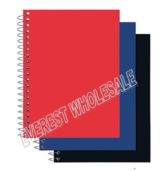 Assorted Color Poly Covered Notebook 100 Quality Sheets * 12 pcs