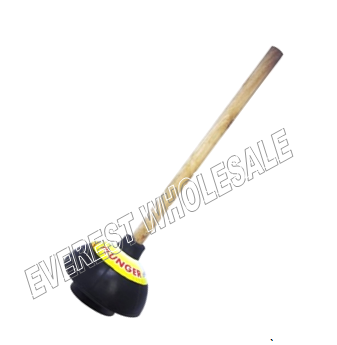 Rubber Plunger Two Layers with Wood Holder * Black Color * 12 pcs