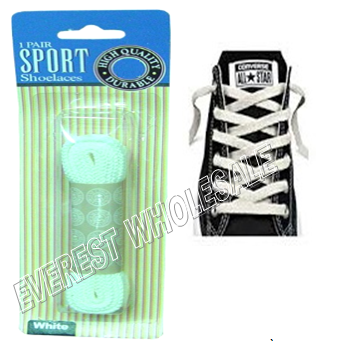 Shoe Lace 27 inch 1 pair / pack * White * 12 pks