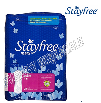 Stayfree Maxi With No Wings 24 ct * 8 pcs