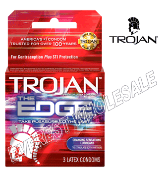 Trojan Condom 3 in Pack * Edge * 6 pks