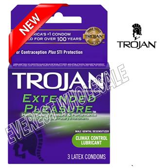 Trojan Condom 3 in Pack * Extended Pleasure * 6 pks