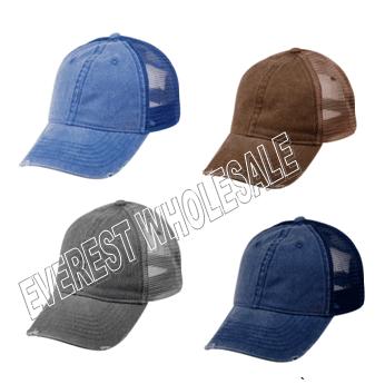 Baseball Cap For Truck Driver Denim Fabric * Assorted Colors * 6 pcs