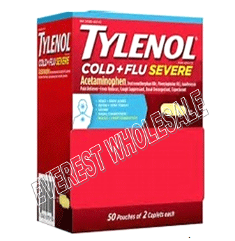 Tylenol Extra Strength * Cold + Flu Severe * 50x2 ct