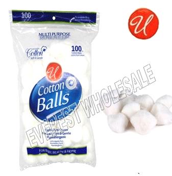 U Cotton Balls * 100 ct Pack * 12 Packs