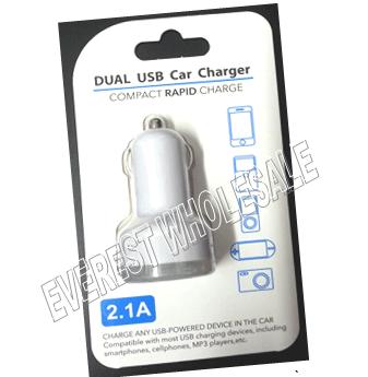 USB Compact Rapid Dual Port Car Charger * 12 pcs
