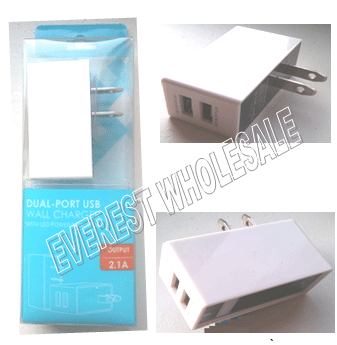 USB Dual Port Wall Charger For Pad * 6 pcs