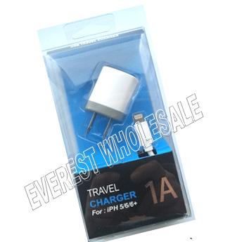 USB Single Port Wall Charging Set For Iphone * 6 pcs