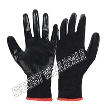 Working Glove Black Rubber * 10 pairs