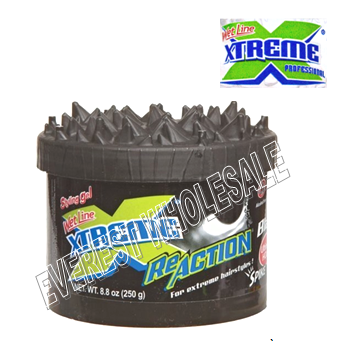 Xtreme Hair Gel 8.8 oz * Black * 6 pcs