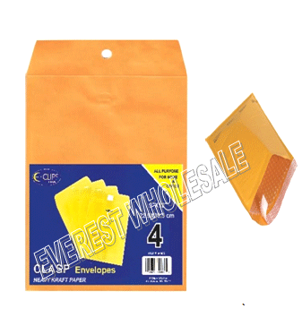 Yellow Bubble Envelope 9 x 12 inches size 4 ct Pack * 12 pcs