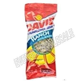 David Sunflower Seeds Tube Bag * Ranch * 1 5/8 oz * 12 Pcs