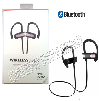 Sport Pro Wireless Rechargeable Bluetooth Headset with Volume Control