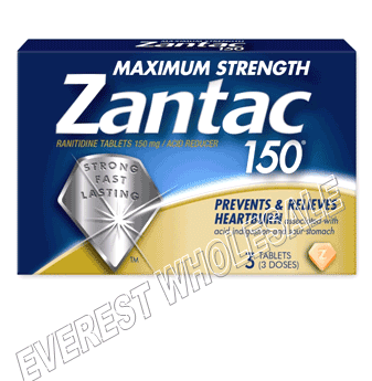 Zantac 150 tabled 3 ct pack * 6 Packs