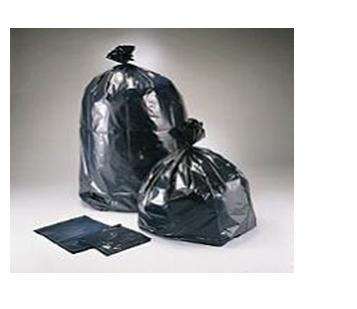 58 Gallon Plastic Black Garbage Bag * Raw Material * XHD 100 ct