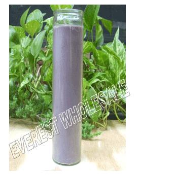 7 Days Candle With Glass Jar * Plain Purple * 12 pcs